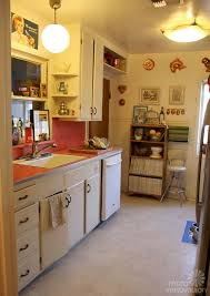 Salvage Kitchen Cabinets Sarahs Super Economical Retro Kitchen Remodel Featuring