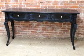 blue console table. Black Console Table With Blue Rub Through 8
