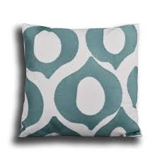 Lydia Embroidered Decorative Pillows, Teal / White, Single or Sets - Utopia  Alley ...