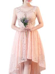 Backless Design Womens Full Dress O Neck Embroidery Sleeveless Backless Design Lace