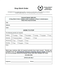 Extra Work Order Template Change Work Order Template Form Extra Construction Free