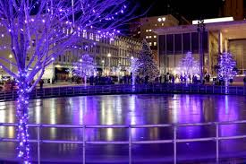GRAM Christmas tree lighting ceremony in front of a festive downtown crowd  at Rosa Parks Circle