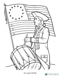 Small Picture Patriotic Coloring Pages