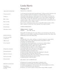 Nanny Sample Resume Sample Resume Cover Letter Example Babysitter