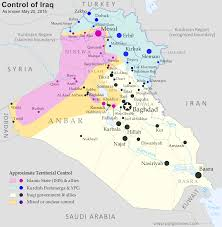 war in iraq map of islamic state control in may   political