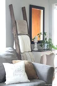 diy ladder blanket holder roundup 5 decorative uses for ladders blanket small home interior decoration ideas diy ladder blanket holder