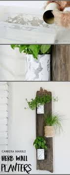 DIY Herb Wall Planters Oh boy I can't wait to use some of these purdy  herbs. Let me start of by saying of this project is recycled materials. Tin  cans ...