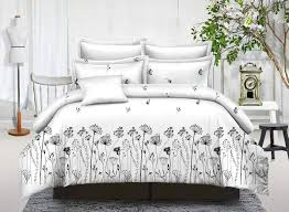 100 polyester cotton white fl bed quilt covers white hotel bed linen set duvet cover set custom bedding manufacturers china