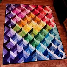 75 best Quilts images on Pinterest & Free Prism Quilt Pattern from Marcus Fabrics. Quilt by Nancy Rink of Nancy  Rink Designs. Adamdwight.com