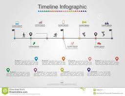 Infographics Timeline Element Layout Vector Stock Vector