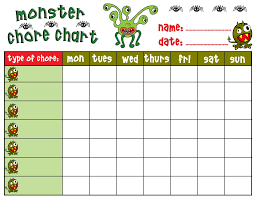 Free Job Chart Template Crocus Chore Chart Easter Chore
