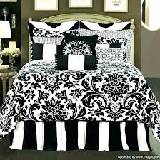 cal king white comforter set black and bedspreads sets striped red toile