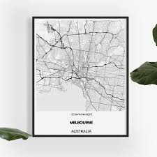 Limited edition and art prints will be available. Melbourne Map Print 50 X 70cm Design Your Own Custom Map Poster Online With Inkifi Com