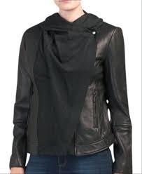 leather jacket vince camuto faux fur