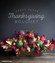 Paper Flower Arrangements Crepe Paper Thanksgiving Bouquet That You Can Make At Home