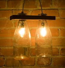 Milk Bottle Decorating Ideas I can see these milk bottle lights over a kitchen island or bar 94