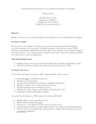 Accounting Assistant Resume Samples Professional Sample Resume Format Extraordinary Accounting Assistant Resume