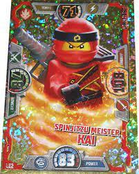 LEGO Ninjago Serie 3 Spinjitzu Meister Kai LE2 limitierte gold Karte  Auflage Trading Card NEU: Amazon.de: Spielzeug