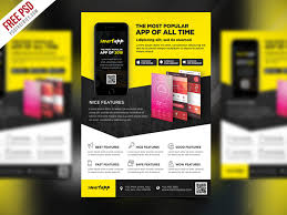 Free Flier Template Free Psd Mobile App Promotion Flyer Template Psd By Psd