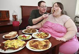 Image result for Fat women and junk food