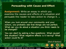 writing workshop persuading cause and effect ppt video persuading cause and effect
