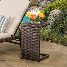 forrest outdoor wicker side table