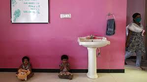 In bathroom private teen video