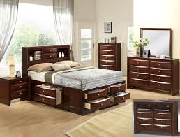 Image Piece Queen This Beautiful Contemporary Queen Bedroom Set Has Plenty Of Under Bed Storage Drawers Along With Headboard Drawers And Shelves For Your Clothes And Personal Tallahassee Furniture Direct Solid Wood Bedroom Set Tallahassee Furniture Direct