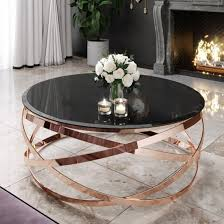 enrico black glass coffee table with