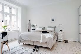 Bedroom Fantastic Scandinavian Bedroom Decor With Light Cream Wood