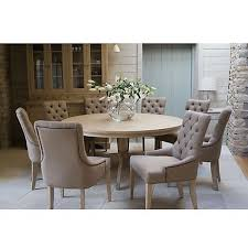 john lewis neptune henley 8 seat round dining table with neptune henley dining chairs in mocha linen