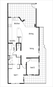 the floorplan of a home that has an open plan living dining room and