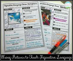 Anchor Chart Figurative Language Teaching With A Mountain View Figurative Language Review