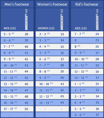 12 Mens And Womens Shoe Size Chart Business Letter