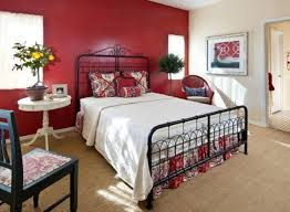 vintage-bedroom-decor-with-classic-bed-white-color-red-wall-paint-and-wooden-chair  | DWEEF.COM - Bright and Attractive Interior Design