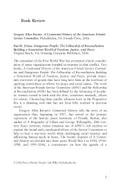 Pdf A Centennial History Of The American Friends Service