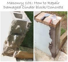 cinder block wall repair. Simple Cinder Masonry 101 How To Repair A Concrete Cinder Block Wall For Cinder O