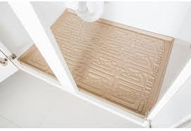 xtreme mats beige kitchen depth under sink cabinet mat drip tray shelf liner 30 3 8 in x 21 1 2 in