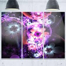 large metal flower wall decor fresh fractal flower dark purple flower metal wall art