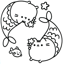 Kawaii Cat Coloring Pages At Getdrawingscom Free For Personal Use