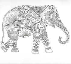 Small Picture Abstract Elephant Coloring Pages GetColoringPagescom
