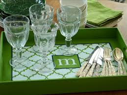 How to Make a Monogrammed Tray | HGTV