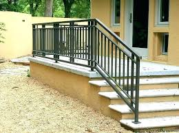 outdoor stair railing kits stairs astounding railings for steps kit straight black iron extraordinary wood a outdoor metal stair