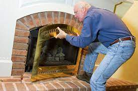 to clean the glass on your gas fireplace