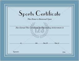 Sports Certificates Templates Free Download Certificate
