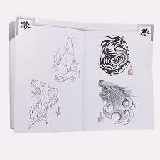 Us 2584 5 Di Scontoanimale Creativo Tatuaggio Modello Libro Multi Lupo Totem Disegni Del Tatuaggio Libro Di Riferimento Per Tattoo Lavori Disegno