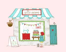 Window Shopping Illustration The Quilt Shoppe Mini Series & Like this item? Adamdwight.com