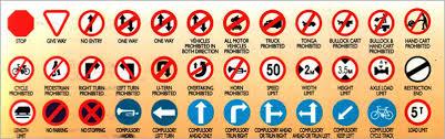 Road Signs Chart India Traffic Symbols Odisha Police