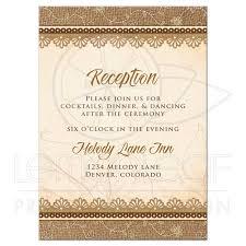 wedding reception card wedding reception card rustic burlap lace wood