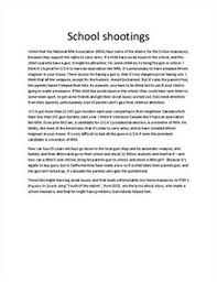 free gun violence essays and papers   helpme  amazing sample essay on the question of gun violence